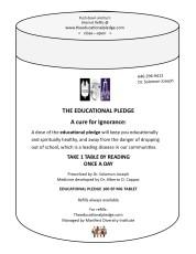 The Educational Pledge prescription...