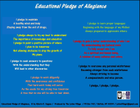 educational pledge in color flyer by alberto o. cappas