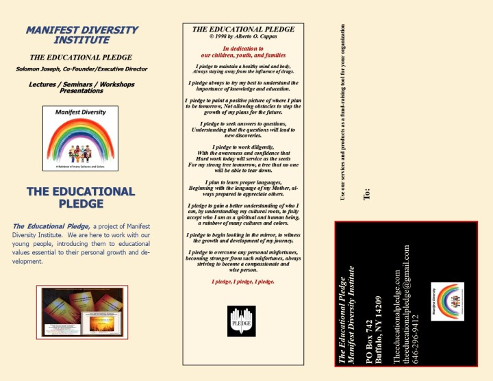 Educational Pledge Brochure Page 2