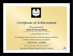 Certificate for show